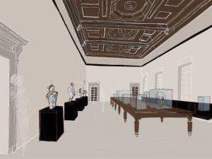 Alla nuova Pilotta di Parma, sotto un anonimo soffitto in muratura ricompare un sontuoso soffitto ligneo a cassettoni