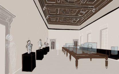 Studio ESSECI - Alla nuova Pilotta di Parma, sotto un anonimo soffitto in muratura ricompare un sontuoso soffitto ligneo a cassettoni